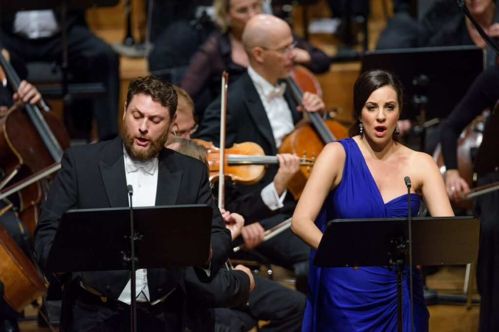 Airam Hernández and Joyce El-Khoury performing Sardanapalo at Staatskapelle Weimar on August 19. Photo: Candy Welz