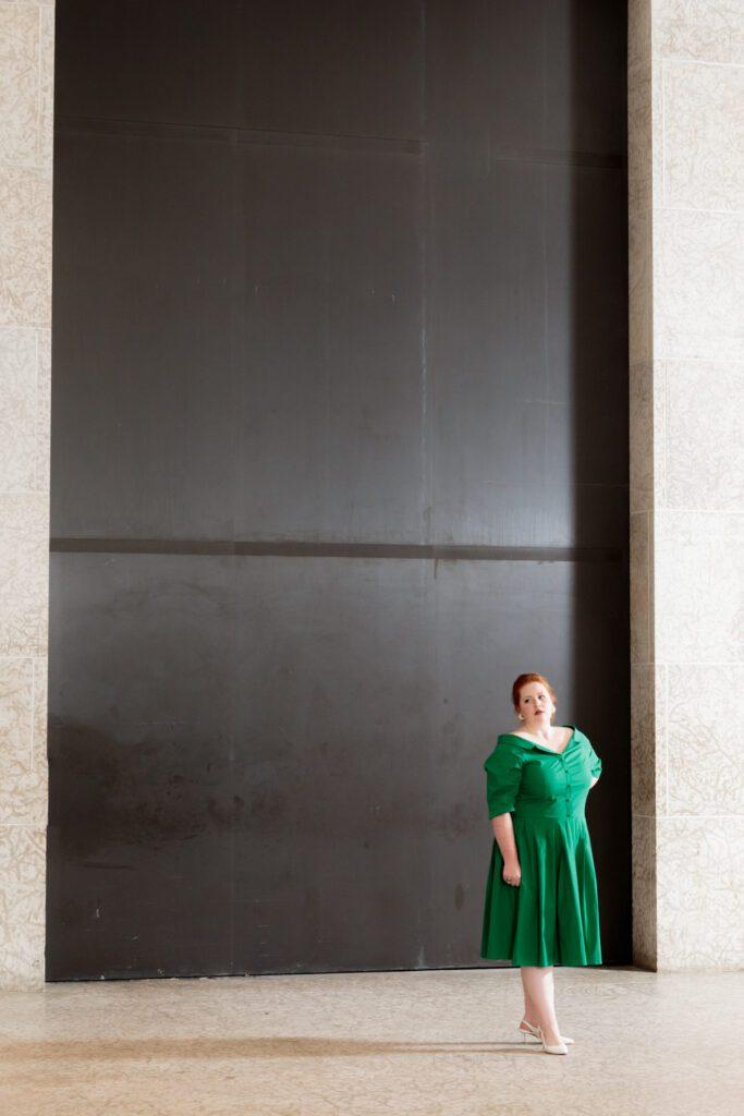 Sydney Clarke (Donna Anna) in Manitoba Underground Opera's Don Giovanni. Photo: Paul McKeen