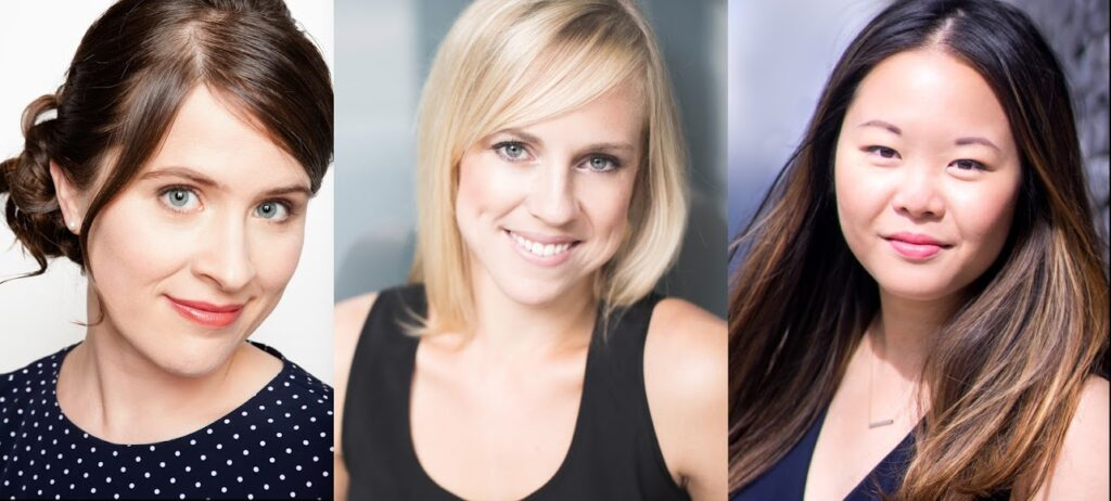 Musique 3 Femmes founders Kristin Hoff, Suzanne Rigden and Jennifer Szeto
