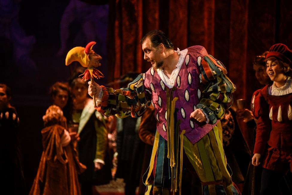 James Westman (Rigoletto) in Opera de Montréal's Rigoletto. Photo: Yves Renaud