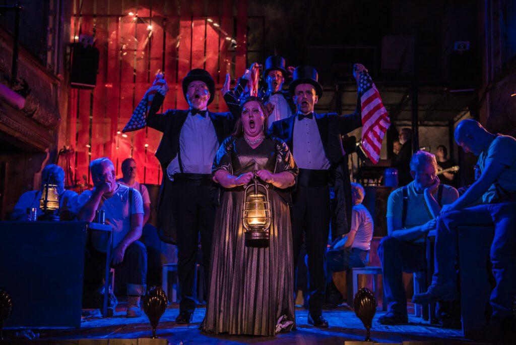 A scene from English National Opera's Paul Bunyan. Photo: Genevieve Girling