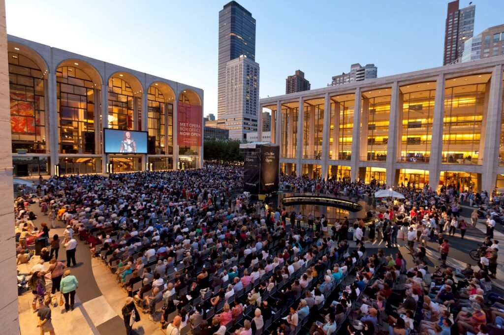 2011 Metropolitan Opera Summer HD Festival at Lincoln Center Plaza, New York City. Photo: Richard Termine/Metropolitan Opera