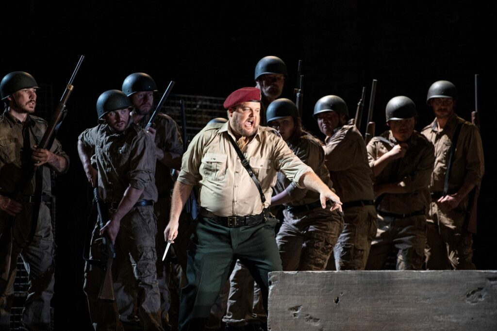 Peter McGillivray (Don Pizarro) in Pacific Opera Victoria's Fidelio. Photo: Emily Cooper
