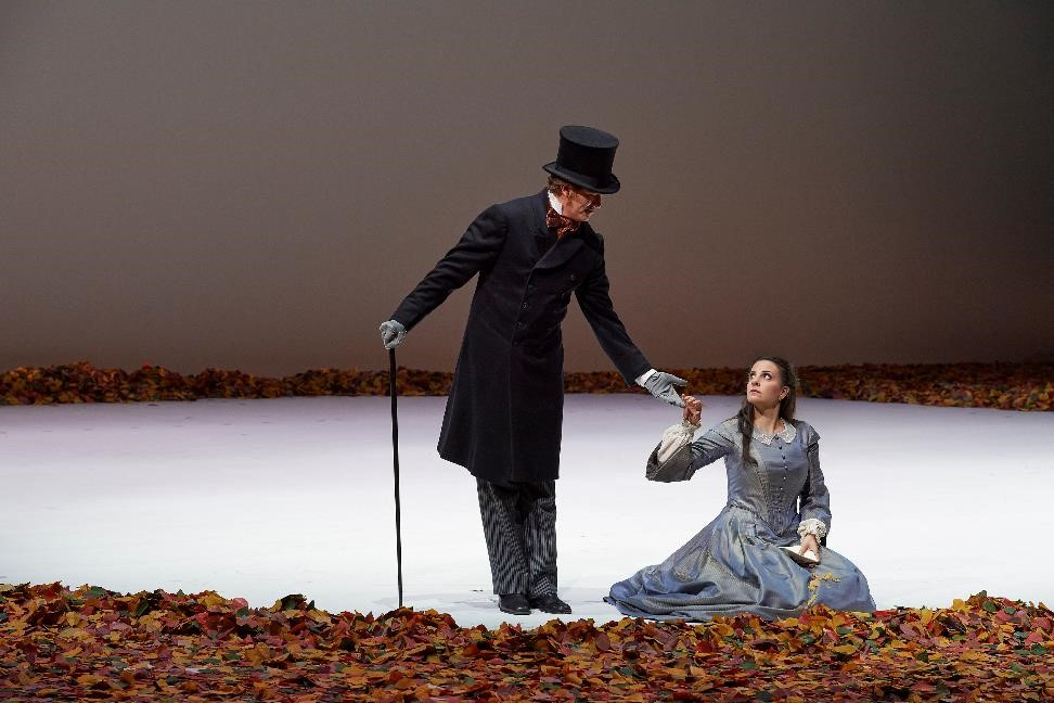 Gordon Bintner (Eugene Onegin) and Joyce El-Khoury (Tatyana) in Canadian Opera Company's Eugene Onegin. Photo: Michael Cooper.