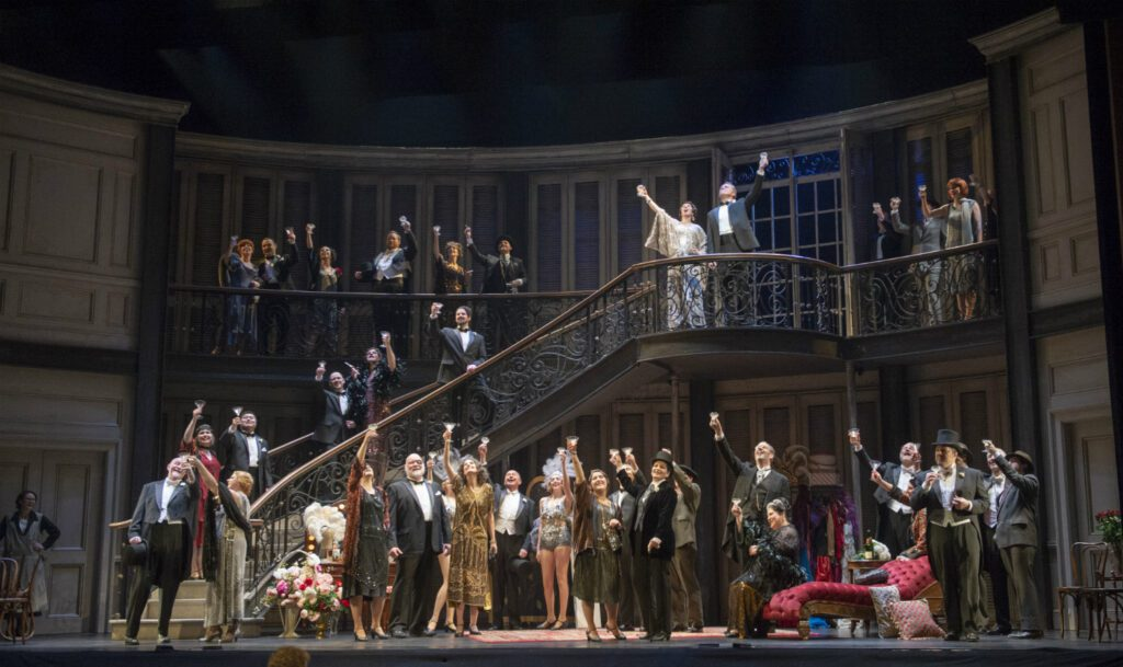 A scene from in Pacific Opera Victoria's La traviata