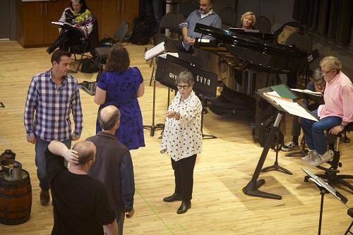 Glynis Leyshon at Il trittico rehearsal