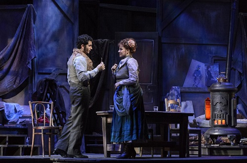 Stage photo of COC's 2013 production of La bohème